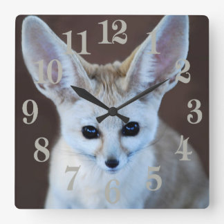 Worlds Cutest Fennec Fox Square Wall Clock