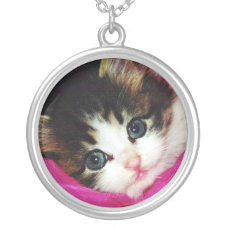 Worlds Cutest Kitten Silver Plated Necklace