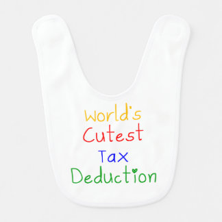 World's Cutest Tax Deduction Bib