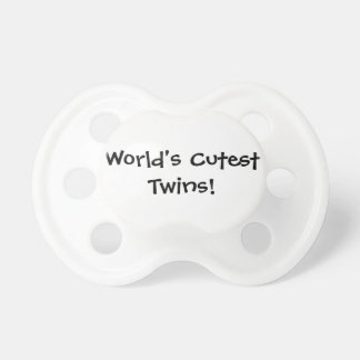Worlds Cutest Twins Baby Pacifiers