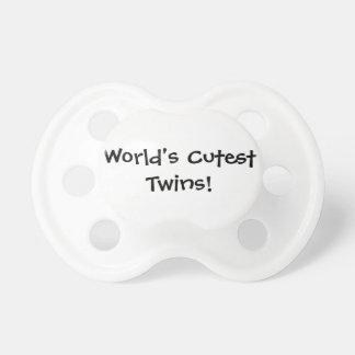 Worlds Cutest Twins Pacifier