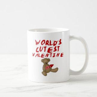 World's Cutest Valentine  Tshirts and Gifts Classic White Coffee Mug