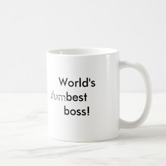 World's (dum)best boss classic white coffee mug
