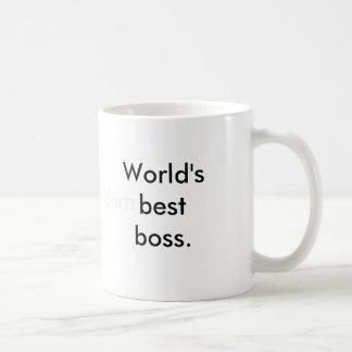 World's (dum)best boss. classic white coffee mug