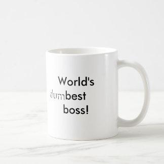 World's (dum)best boss coffee mug