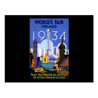 World's Fair Chicago 1934 Postcard