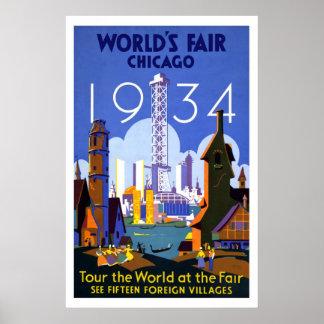 """World's Fair, Chicago 1934"" Vintage Poster"