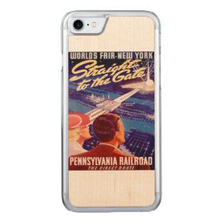 Worlds Fair New York 1939 Poster Carved iPhone 7 Case