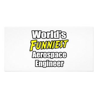 World's Funniest Aerospace Engineer Customized Photo Card
