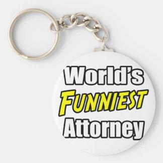 World's Funniest Attorney Keychain