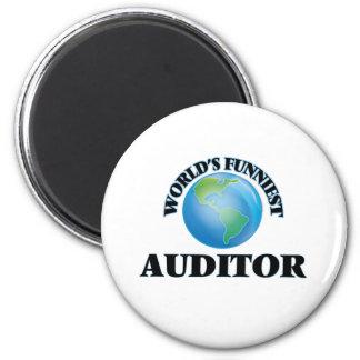 World's Funniest Auditor Fridge Magnets
