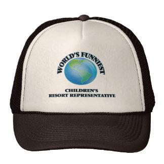 World's Funniest Children's Resort Representative Hats
