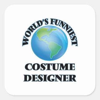 World's Funniest Costume Designer Square Sticker