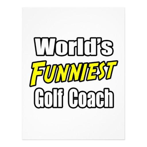 World's Funniest Golf Coach Flyer