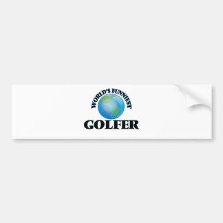 World's Funniest Golfer Bumper Sticker