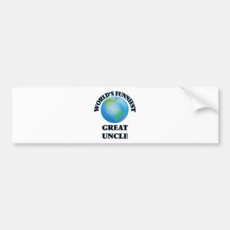 World's Funniest Great Uncle Bumper Sticker