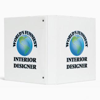 World's Funniest Interior Designer Vinyl Binders