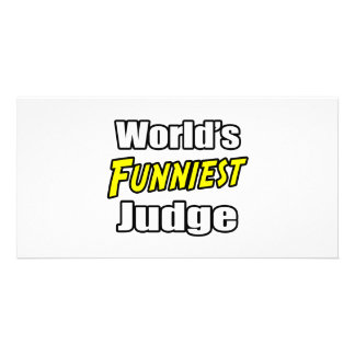 World's Funniest Judge Photo Card Template