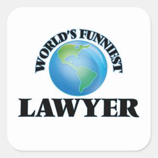 World's Funniest Lawyer Square Sticker