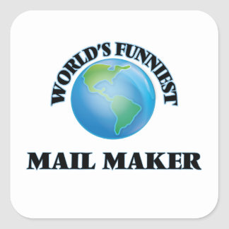 World's Funniest Mail Maker Square Stickers