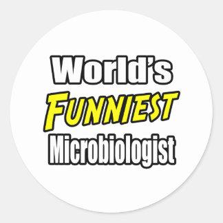 World's Funniest Microbiologist Classic Round Sticker