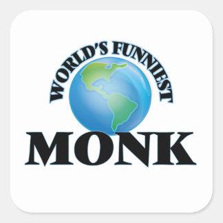 World's Funniest Monk Square Sticker