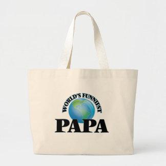 World's Funniest Papa Jumbo Tote Bag