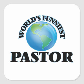 World's Funniest Pastor Square Sticker