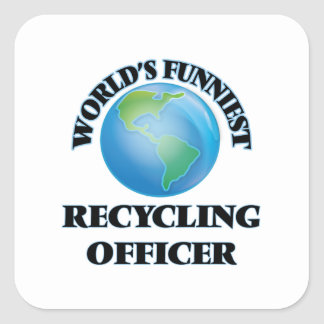 World's Funniest Recycling Officer Square Sticker