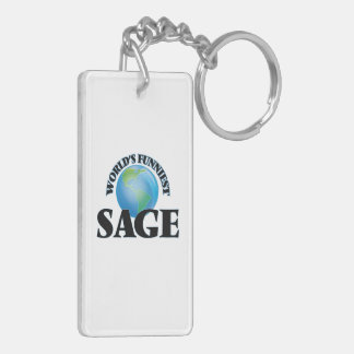 World's Funniest Sage Rectangular Acrylic Keychain