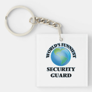 World's Funniest Security Guard Acrylic Key Chains