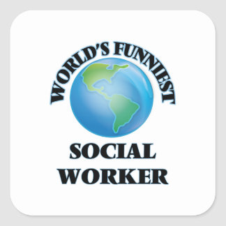 World's Funniest Social Worker Square Stickers