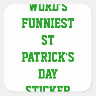 World's funniest St Patrick's day Sticker