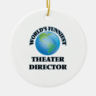 World's Funniest Theater Director Christmas Ornaments