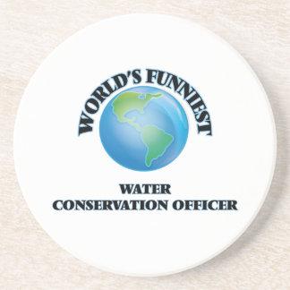 World's Funniest Water Conservation Officer Beverage Coaster