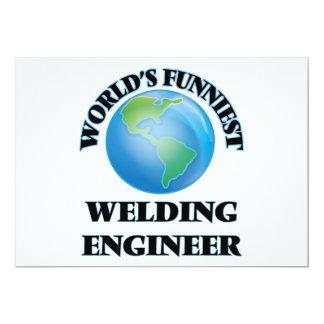 World's Funniest Welding Engineer 5x7 Paper Invitation Card