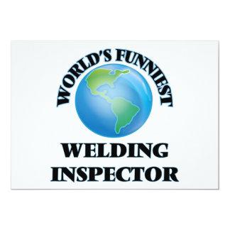 "World's Funniest Welding Inspector 5"" X 7"" Invitation Card"