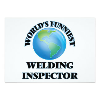 World's Funniest Welding Inspector 5x7 Paper Invitation Card