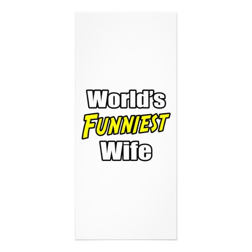World's Funniest  Wife Rack Card Template