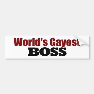 World'S Gayest Boss Bumper Sticker