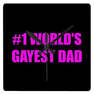 Worlds Gayest Dad Wallclock