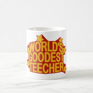 World's Goodest Teecher Classic White Coffee Mug