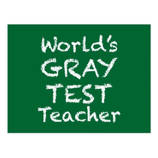 World's Gray Test Teacher Postcard
