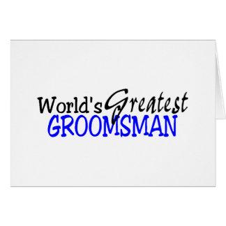 Worlds Greastest Groomsman Blue Black Card