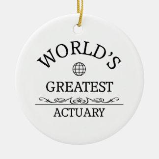 World's greatest Actuary Round Ceramic Ornament