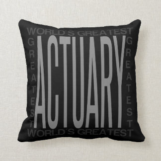 Worlds Greatest Actuary Throw Pillow