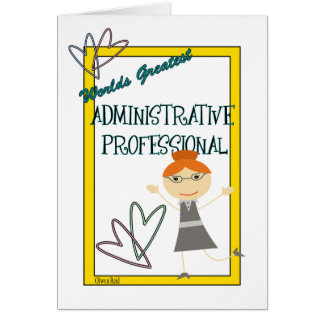 Worlds Greatest Administrative Professional Card