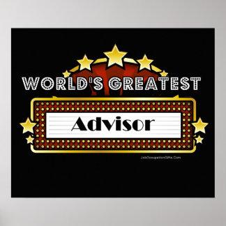 World's Greatest Advisor Posters