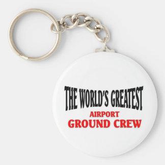 World's Greatest Airport Ground Crew Keychain