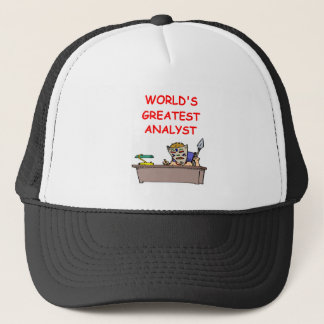 world's greatest analyst trucker hat